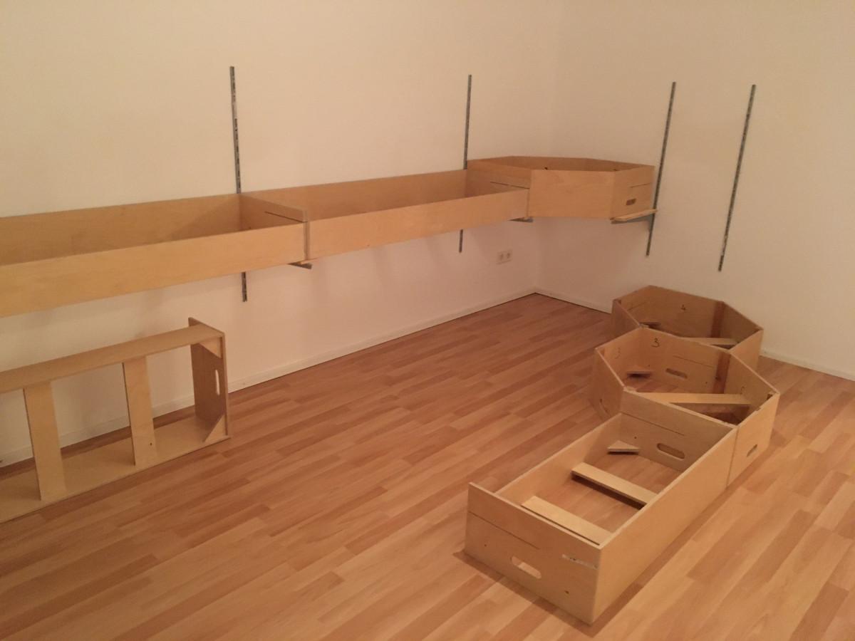 Das alte Schlafzimmer wird zum Modellbahnzimmer adaptiert😉