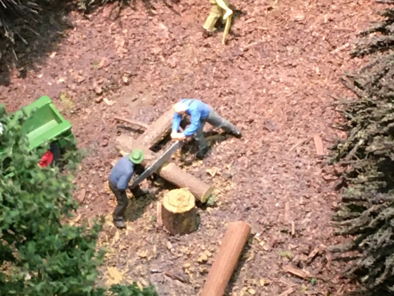 Waldarbeiter, Holz,
